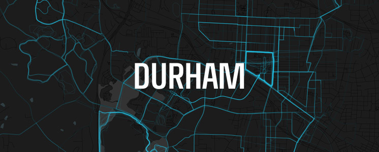 Durham running map