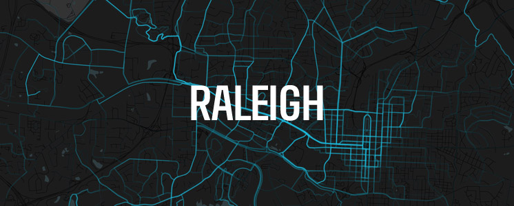 Raleigh running map