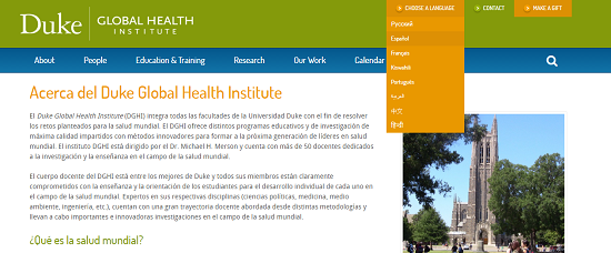 Spanish Non-Profit Website Translation