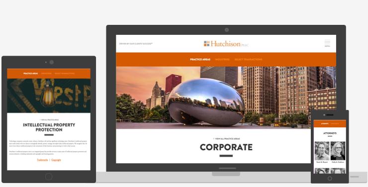 Hutch Law Responsive Website
