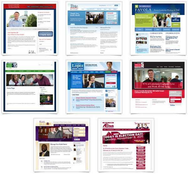 2011 General Election winning website screenshots