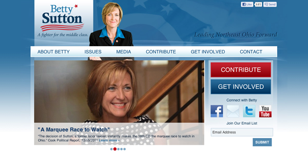 Betty Sutton homepage