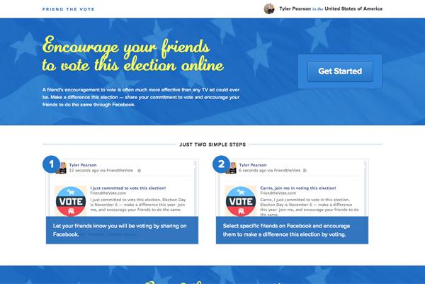 Friend the Vote homepage