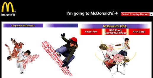 The McDonalds Landing Page