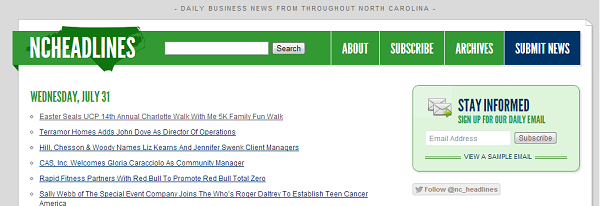 North Carolina Press Release Distribution