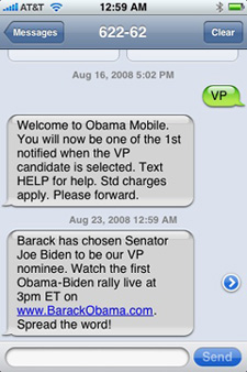 text messaging in political campaigns