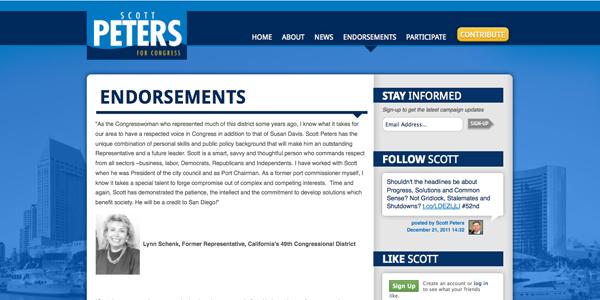 Peters endorsements