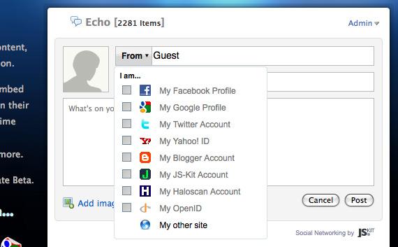 Screenshot of JS-Kit Echo
